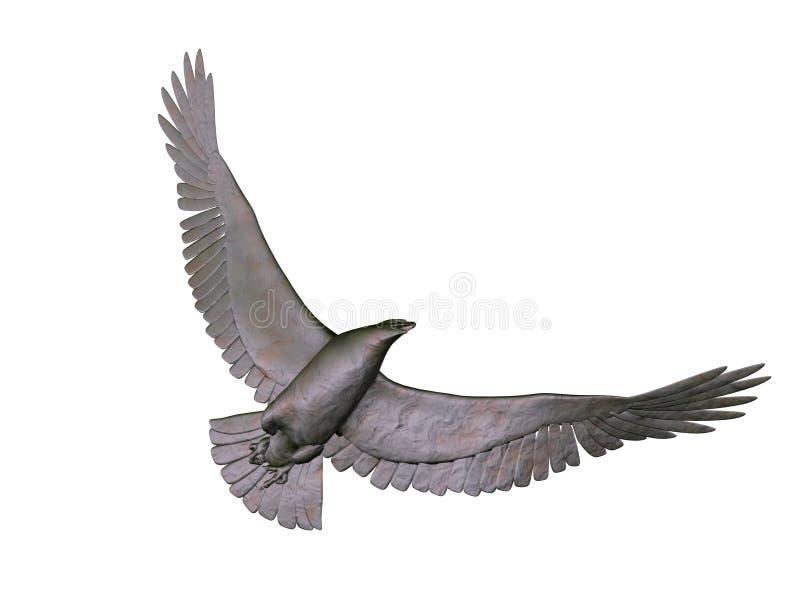 Aigle gris illustration de vecteur