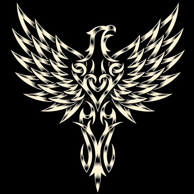 Aigle héraldique illustration stock