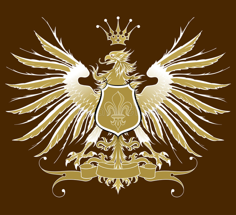 Aigle héraldique de cru illustration libre de droits