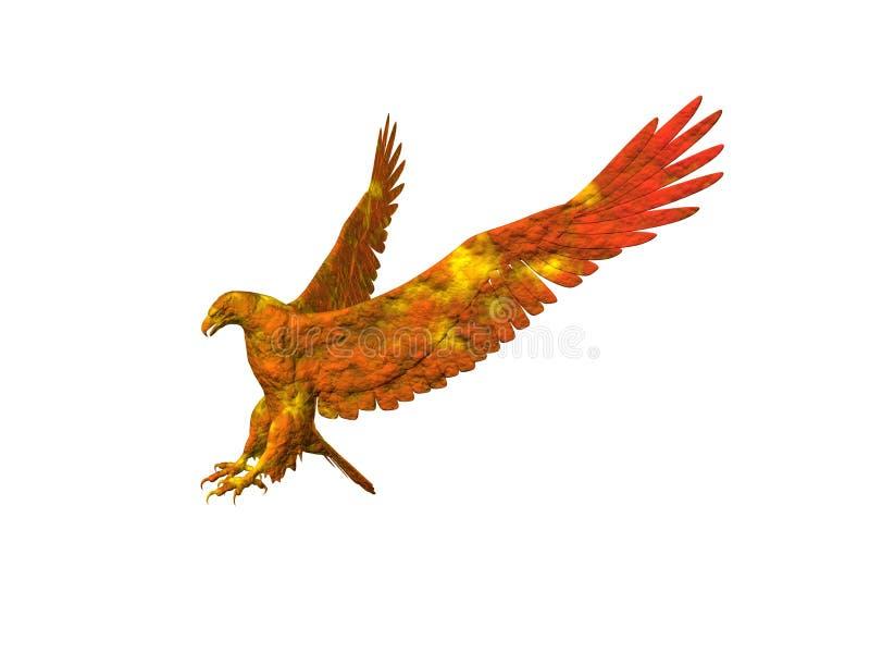 Aigle lumineux illustration de vecteur