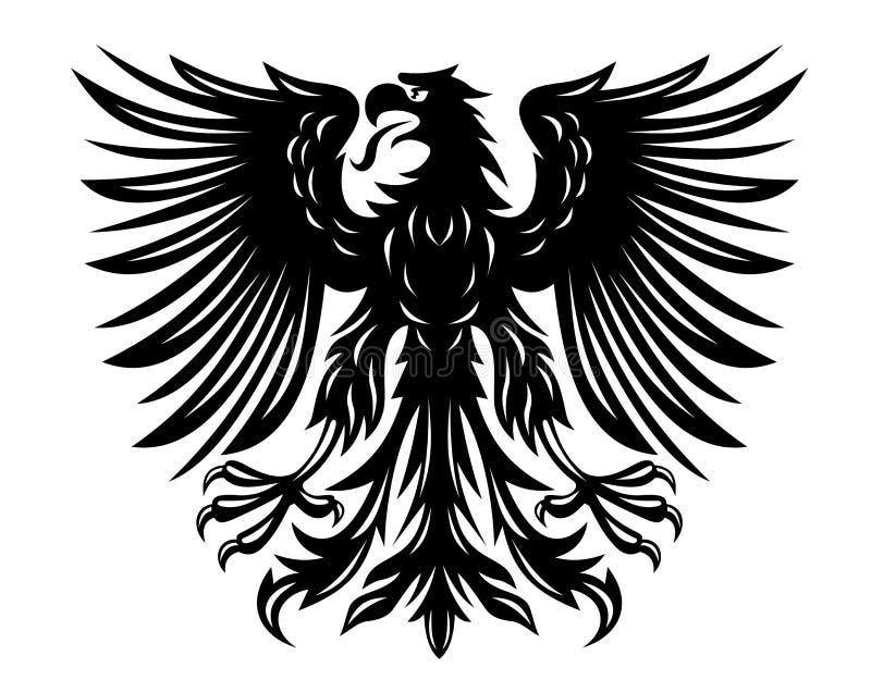 Aigle noir illustration libre de droits