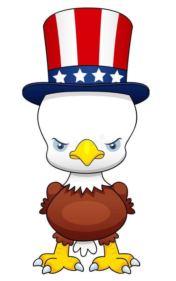 Aigle patriotique américain de dessin animé illustration stock