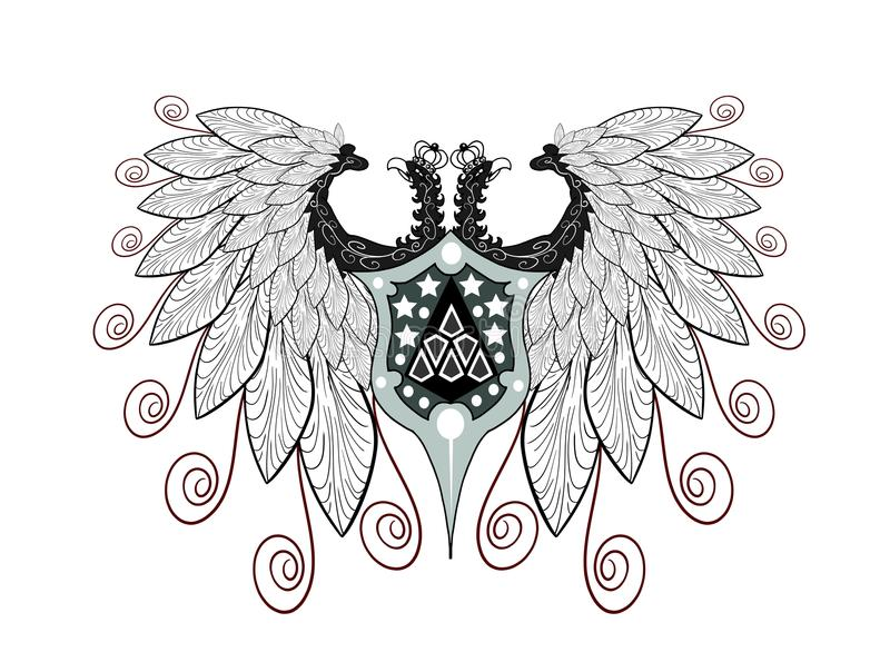 Aigle Two-headed illustration stock