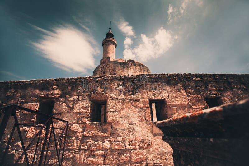 Aigues-Mortes手表塔 库存图片