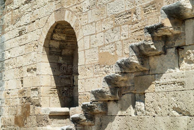 Aigues-Mortes (Франция): стены стоковые изображения rf