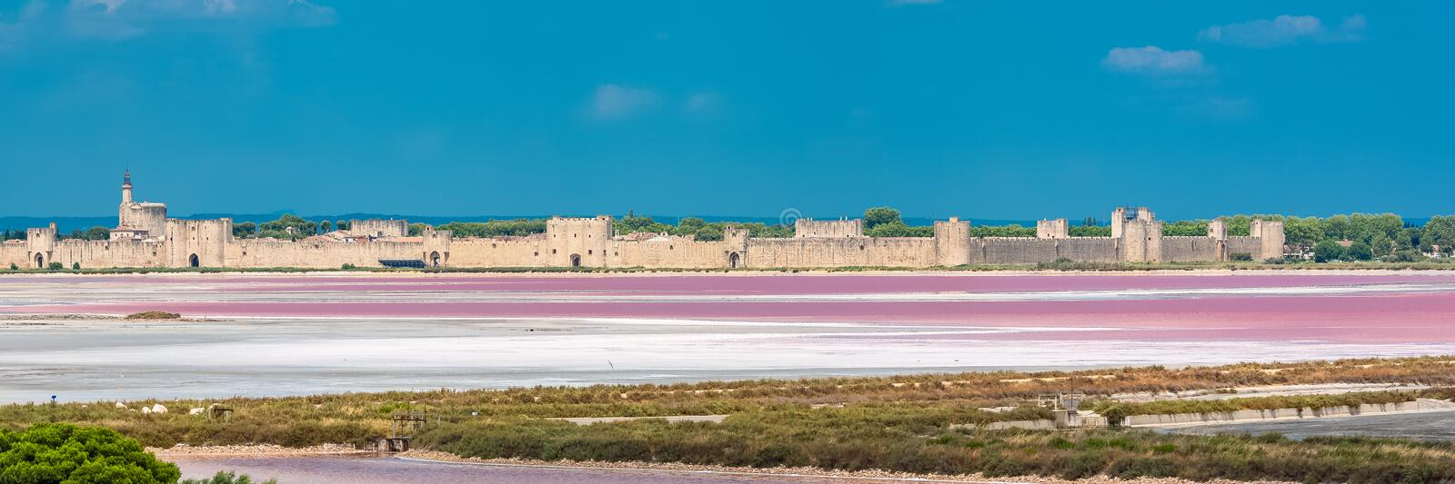Aigues-Mortes royaltyfria foton