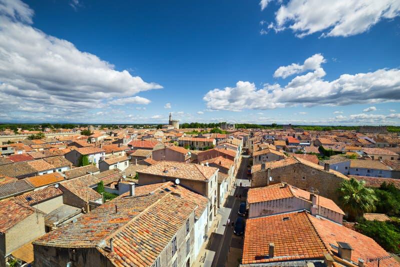 Aigues-Mortes frankreich lizenzfreies stockbild