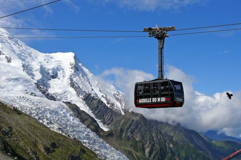 aiguille τελεφερίκ du Midi στοκ εικόνες με δικαίωμα ελεύθερης χρήσης
