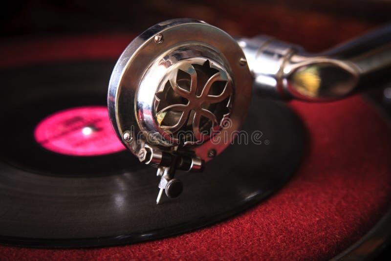 Aiguille d'un vieux plan rapproché de phonographe photos stock