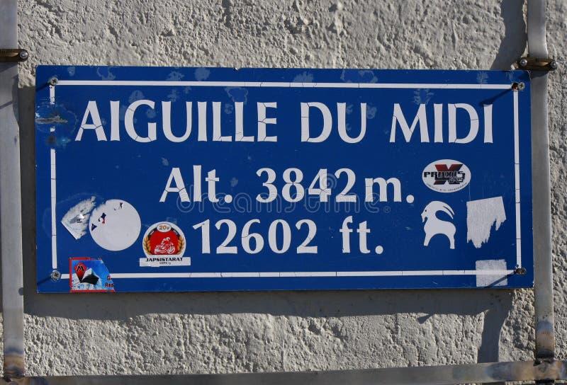 Aiguille du Midi images stock