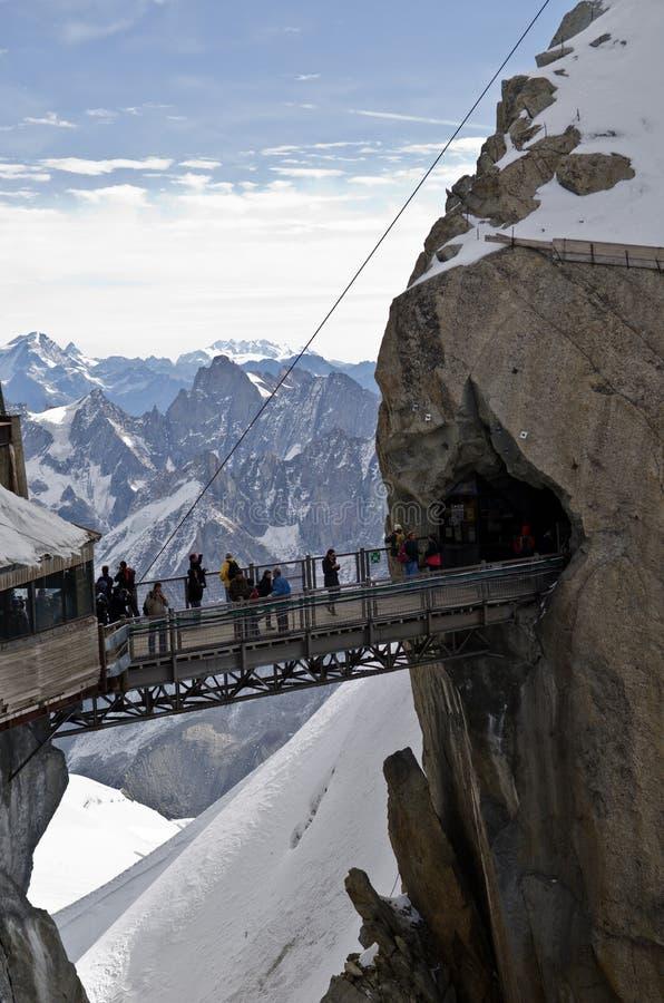 Aiguille du Midi - alpes franceses foto de stock royalty free