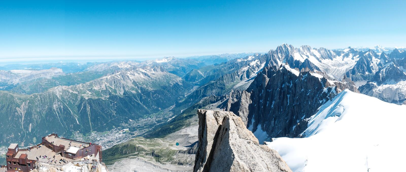 Aiguille du Midi, Chamonix, Frankrijk royalty-vrije stock foto's