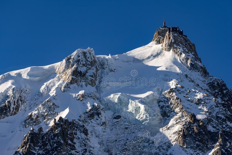 Aiguille du Midi Chamonix Mont Blanc, Haute Savoie imagem de stock royalty free