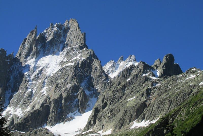 Aiguille du Midi, Chamonix, montañas francesas imágenes de archivo libres de regalías