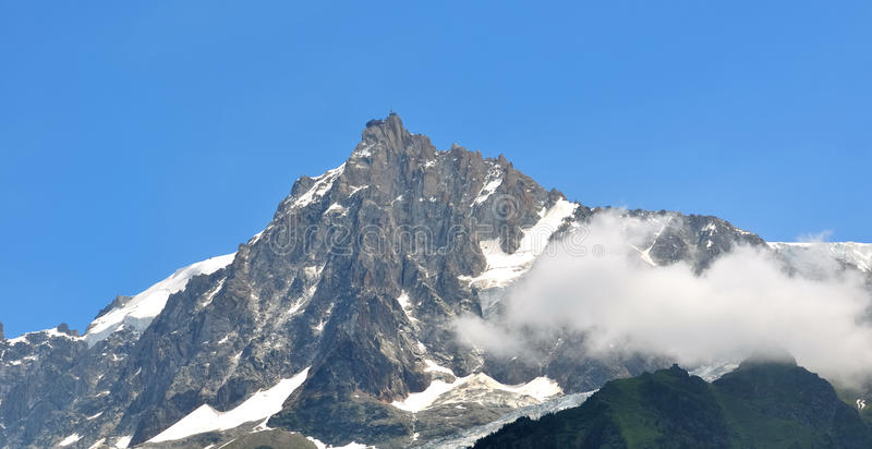 Aiguille du Midi (Mont-Blanc) zdjęcia stock