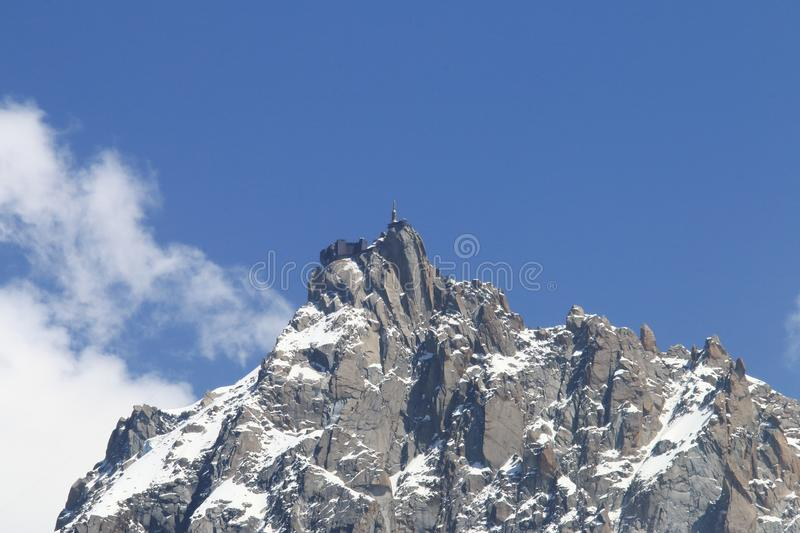 Aiguille du Midi, Mont Blanc massif, France royalty free stock photography