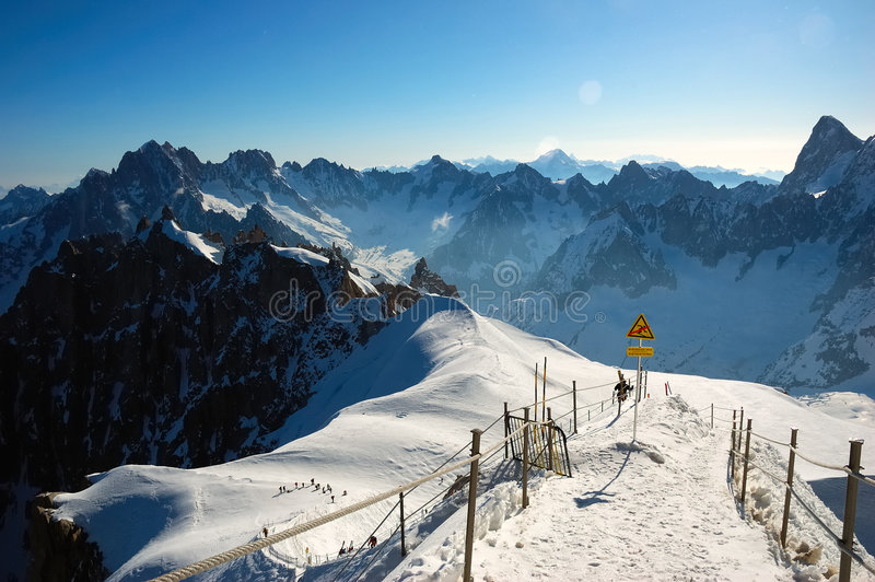 Download Aiguille Du Midi Panorama Royalty Free Stock Photography - Image: 2318827