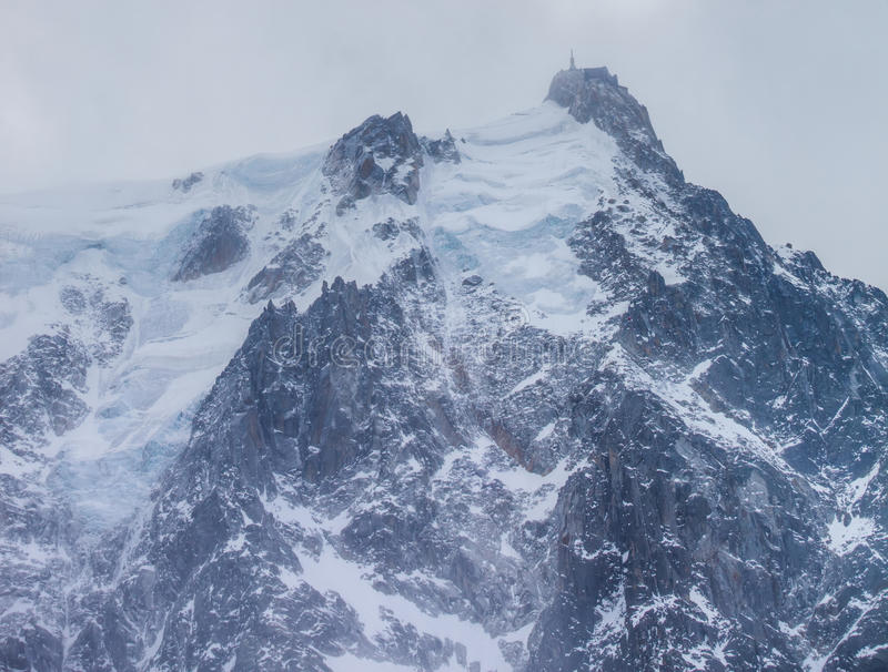 Download Aiguille du Midi Summit stock image. Image of aiguille - 23909481