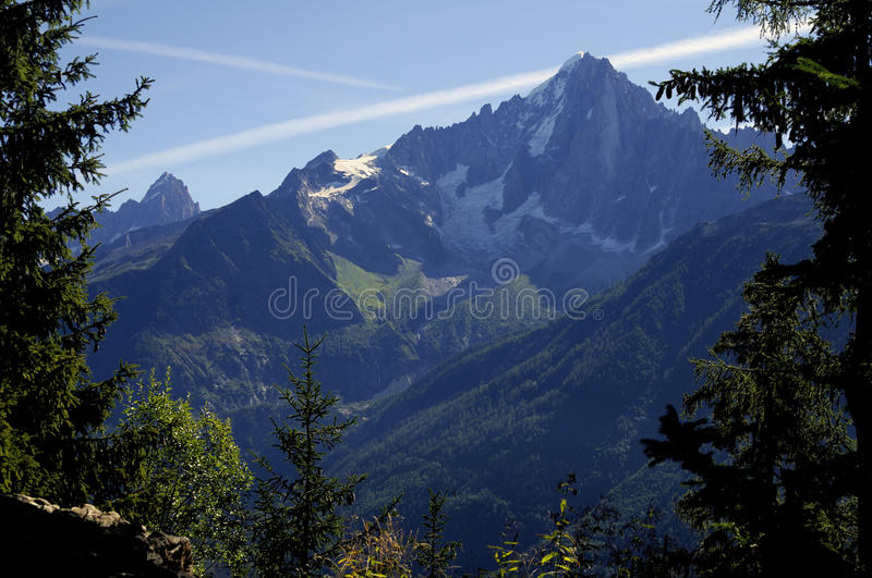Aiguille verte royalty free stock images