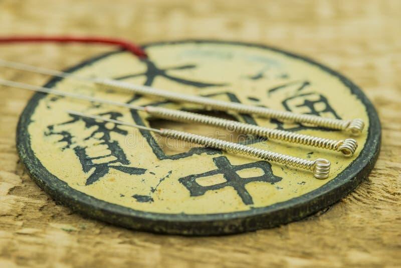 Aiguilles d'acuponcture images stock