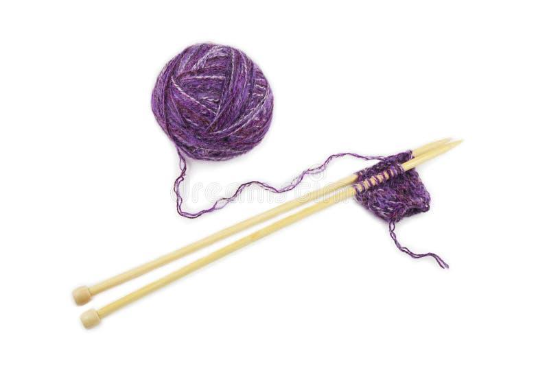 Aiguilles de fil et de tricotage photos libres de droits