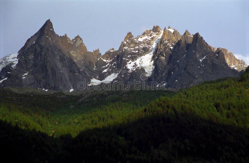 Aiguilles DU Chamonix stockbild
