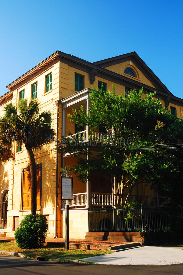 The Aiken House, Charleston. The Aiken House is an hitoric home in Charleston, South Carolina royalty free stock images