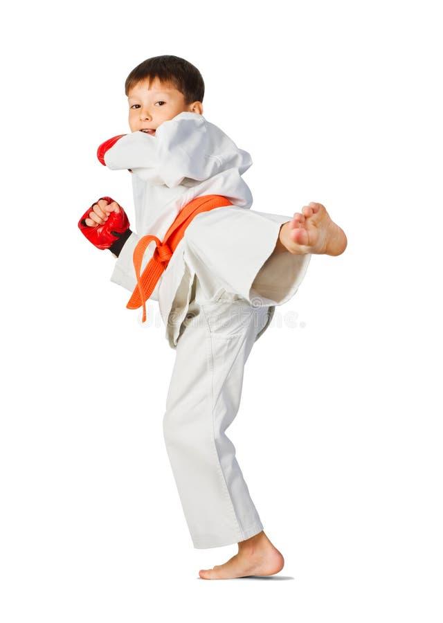 aikido chłopiec obrazy royalty free