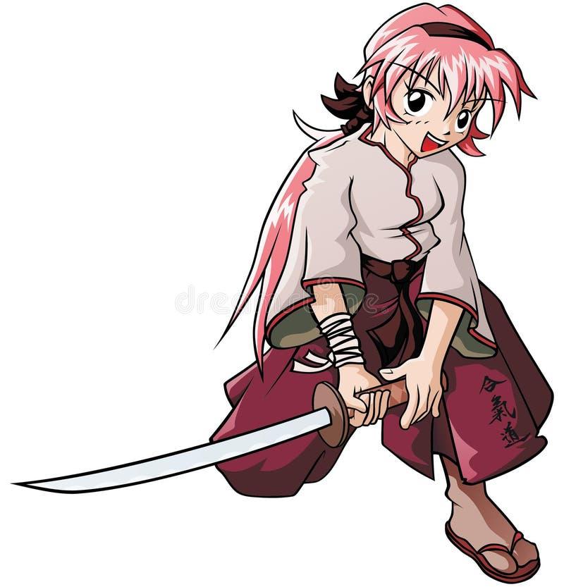 Aikido girl royalty free illustration