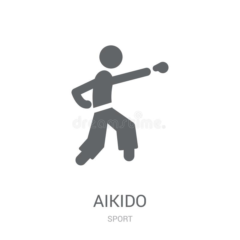 aikido icon. Trendy aikido logo concept on white background from vector illustration