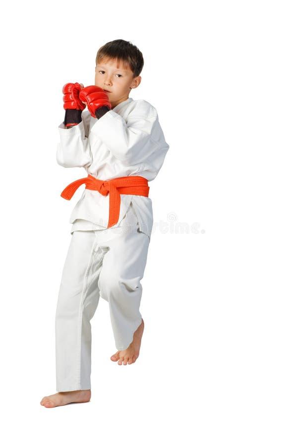 Aikidojunge. Kampfkünste stockfoto