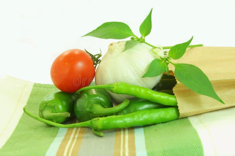 Ail et tomate de poivre de piment photographie stock libre de droits