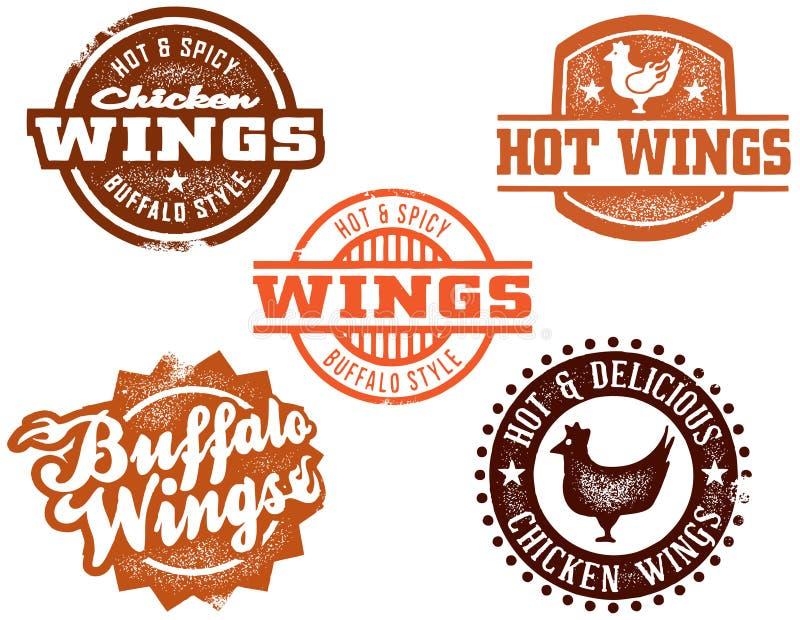 Aile de poulet chaude de Buffalo illustration libre de droits