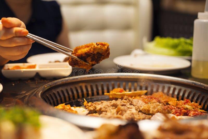 Aile de poulet de barbecue photo stock