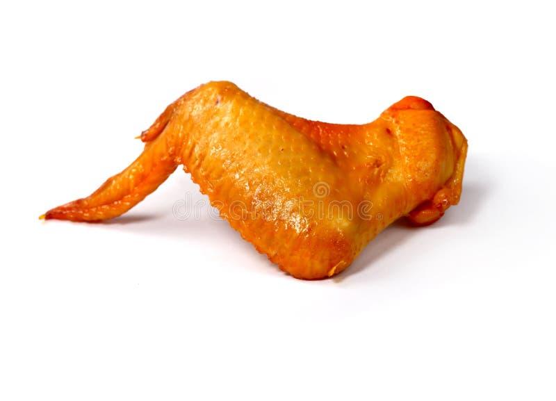 Aile de poulet fumée photographie stock libre de droits