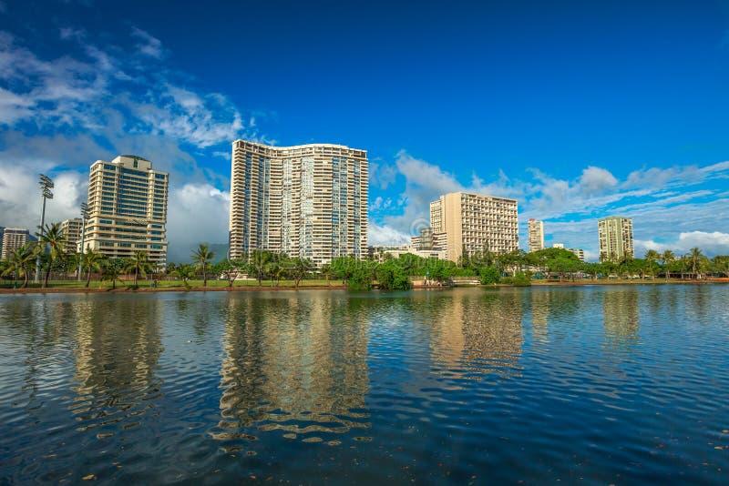 Aile du nez Wai Canal Honolulu photo stock