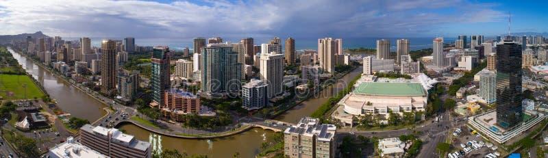Aile du nez Wai Canal Honolulu Hawaii photos libres de droits