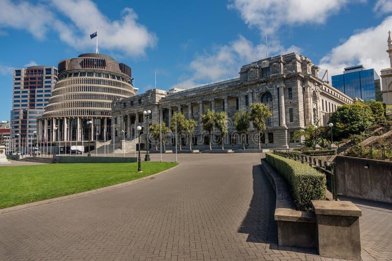 Aile exécutive des bâtiments du Parlement du Nouvelle-Zélande localisés images stock