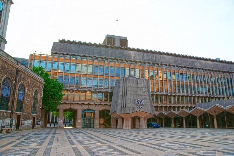 Aile occidentale de palais de corporations dans la ville de Londres Angleterre photos stock