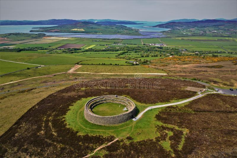Aileach Burt Co de Grianan Le Donegal photos stock