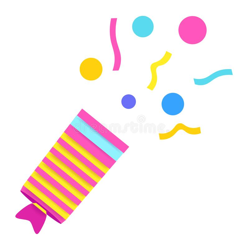 Aileron avec des confettis Objet d'isolement illustration stock