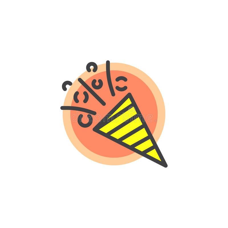 Aileron avec l'icône remplie par confettis d'ensemble illustration libre de droits