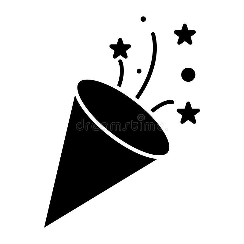 Aileron - l'icône de pétard, illustration de vecteur, noir se connectent le fond d'isolement illustration stock