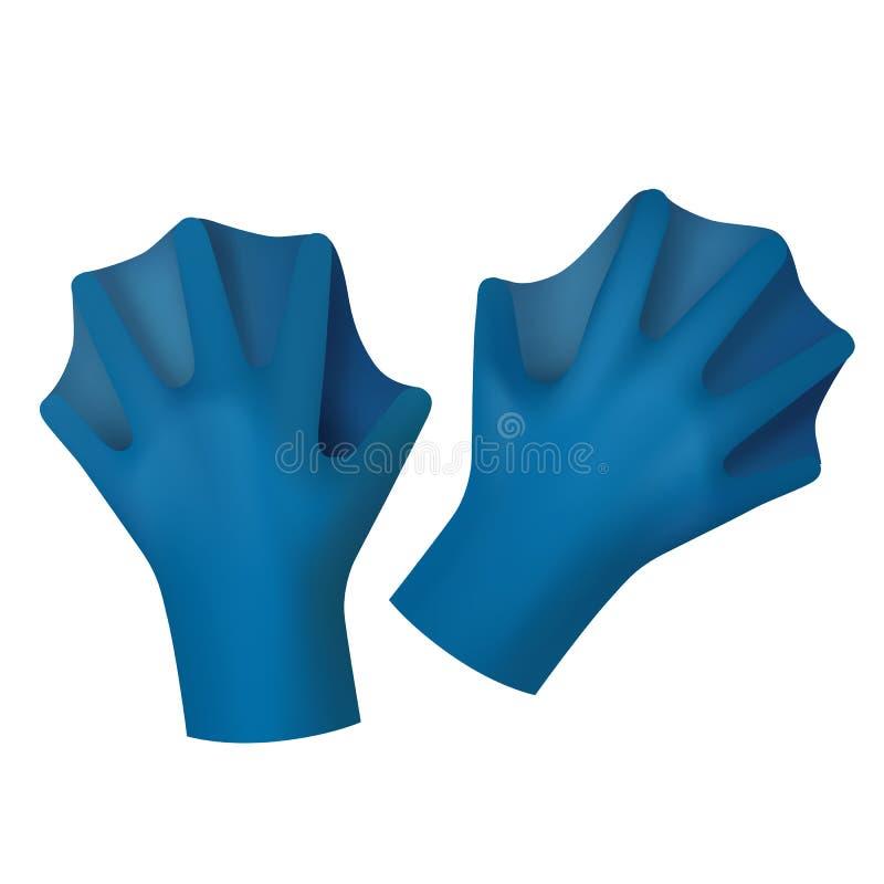 Ailerons pour des gants illustration stock