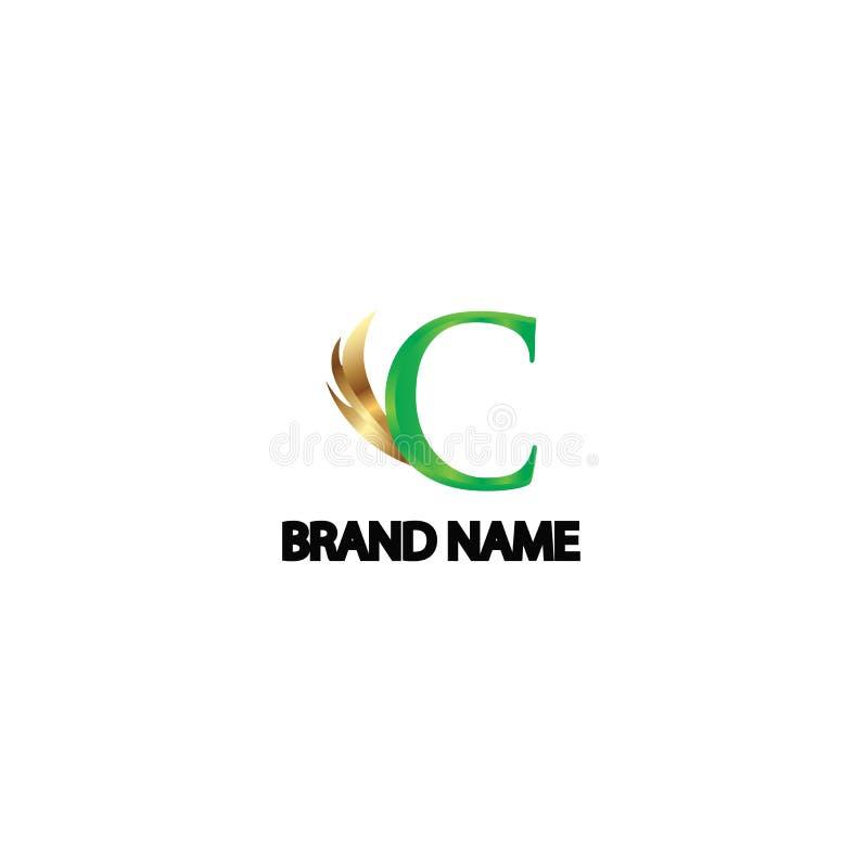 Ailes d'ange du logo c exclusives images libres de droits