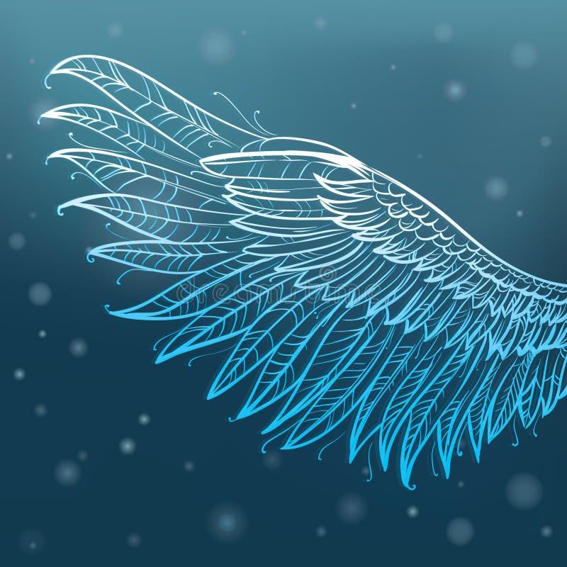 Ailes d'ange, illustration de vecteur illustration stock