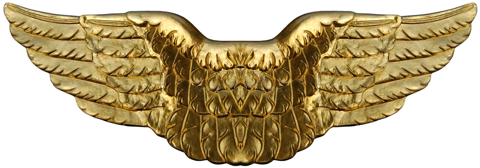 Ailes d'or symboliques illustration stock