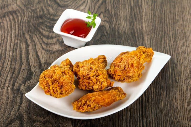 Ailes de poulet croustillantes photo stock