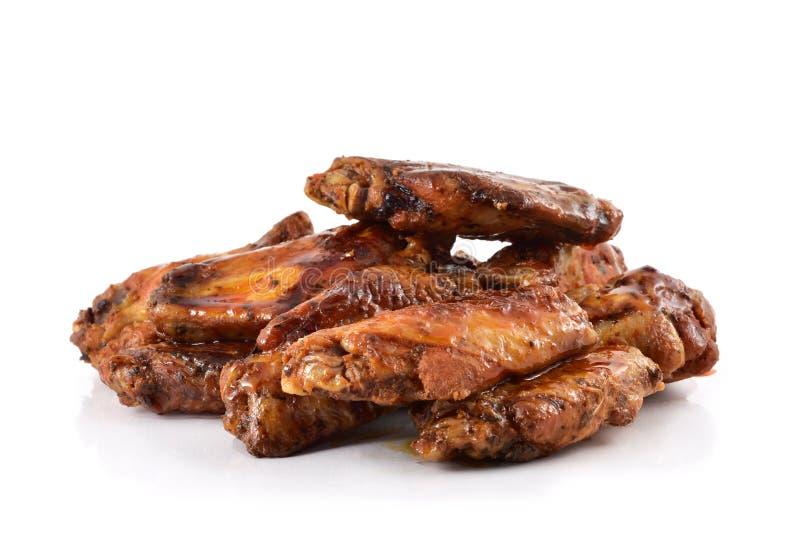 Ailes de poulet de barbecue photographie stock libre de droits