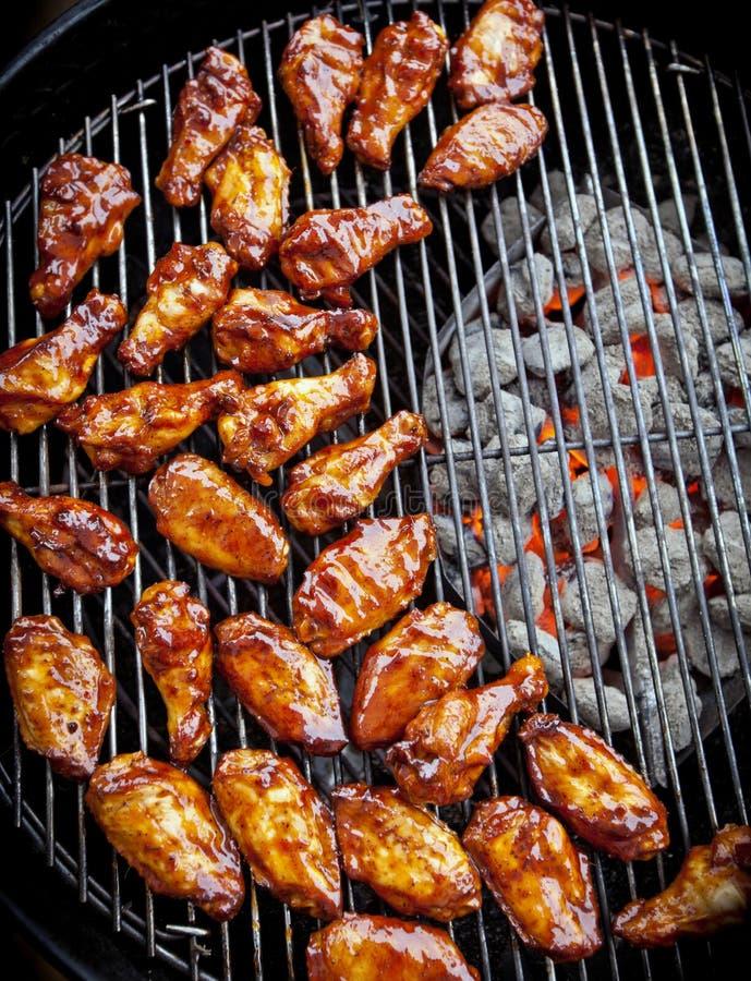 Ailes de poulet de BBQ photographie stock libre de droits